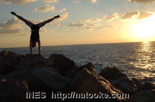 Another Handstand on the Rocks by Ines Brunn