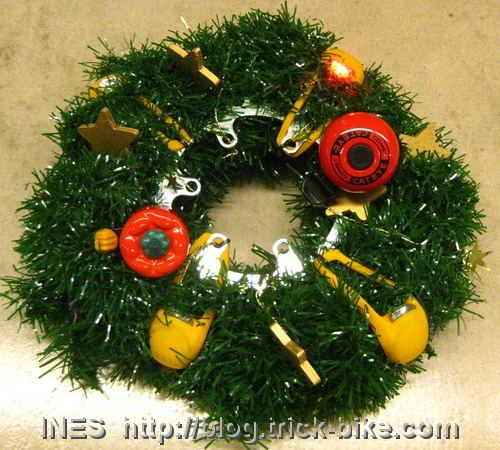 Adventskranz out of Bike parts