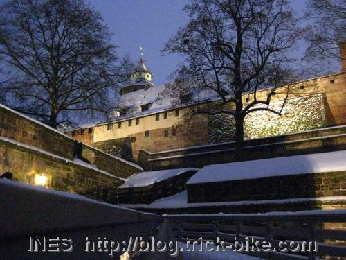 Snow on the Nuremberg castle