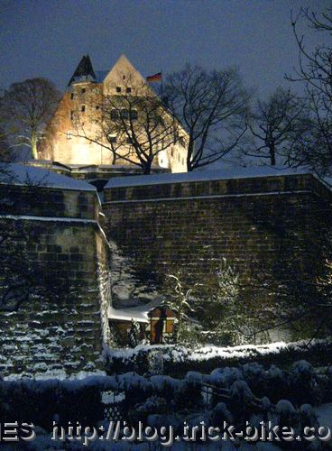Nuremberg castle by night