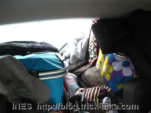 Packed up car