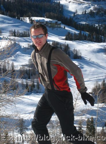 Handsome snow boarder