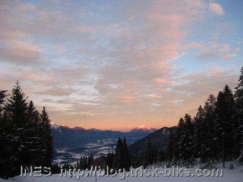 Dobratsch by Sunset