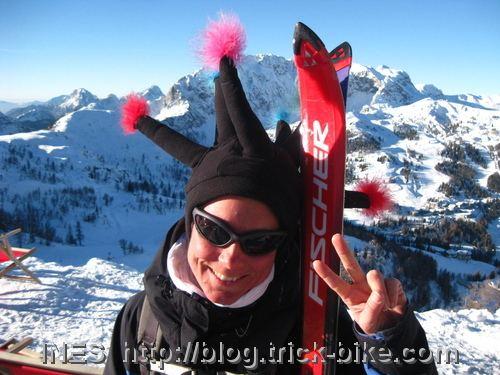Ines Brunn in the ski resort