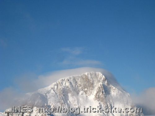 Trogkofel summit covered by a cloud