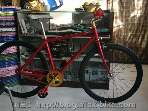 Red Trick Fixie for Lao Zhou
