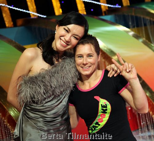 Li Ai and Ines after the TV show recording