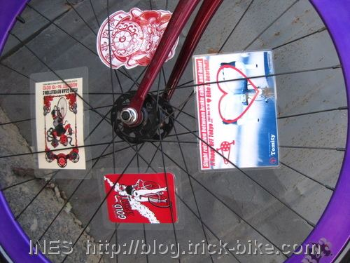 Cool spoke cards in Fixie Wheel