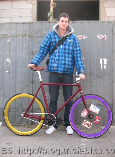 Mitchell and his Natooke Fixed Gear Bike