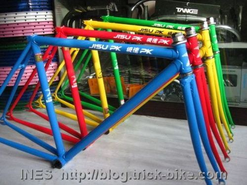 Olympic colors bike frames