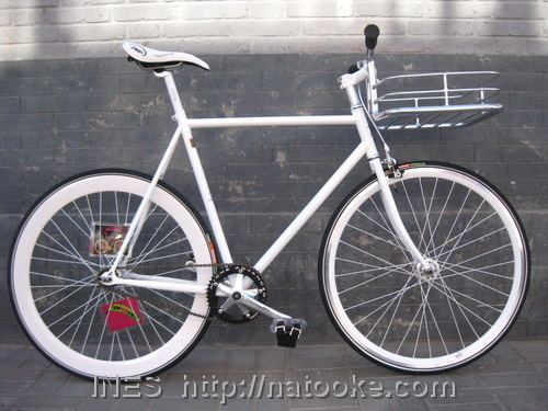 White Commuter Bike