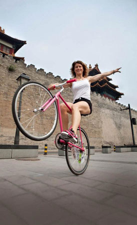 Ines Brunn wheeling around the Forbidden City