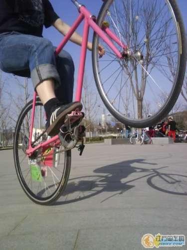 Wheely on Track Bike