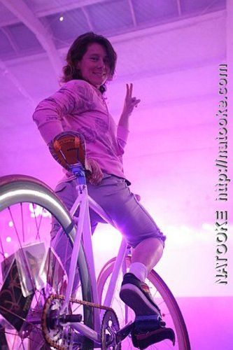 Ines Brunn on the Bikeboy Stage