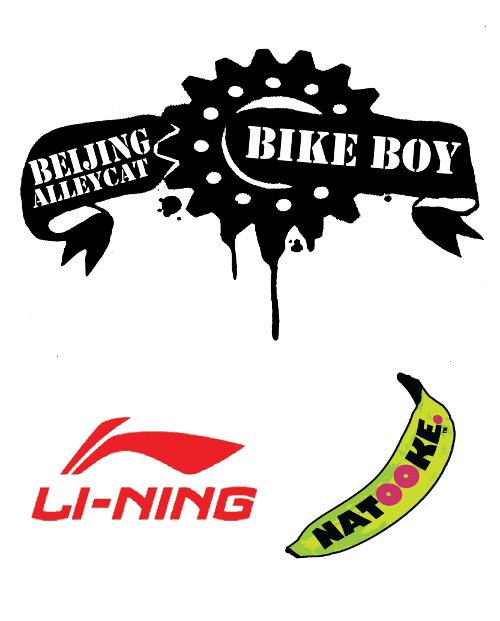 Beijing Alleycat Fixed Gear Race Spokecard