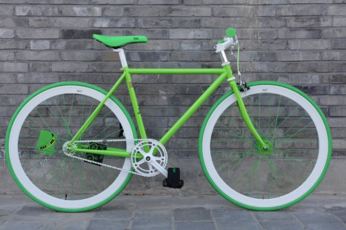 Green Flying Banana Fixed Gear Bike by Natooke