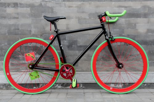 Watermelon Flying Banana Fixed Gear Bike by Natooke