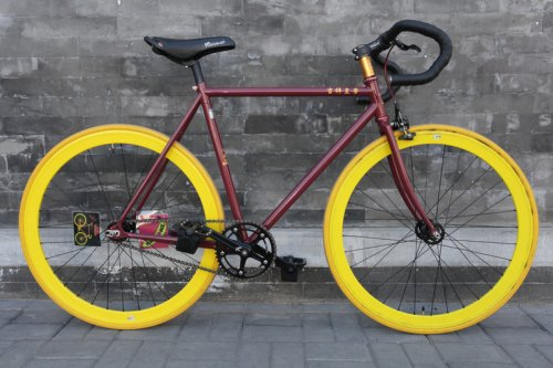Custom Writing on Flying Banana Fixed Gear Bike by Natooke