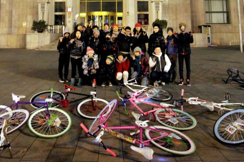 Beijing Fixed Gear Ride on New Year's Eve 2011