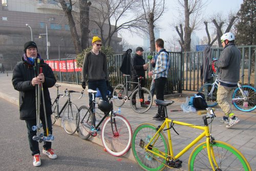 Beijing Pollution Bike Polo Meet-Up