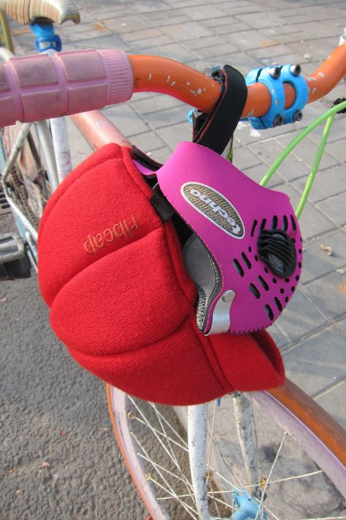 Respro Techno in Ines Pink and Ribcap Helmet Cap